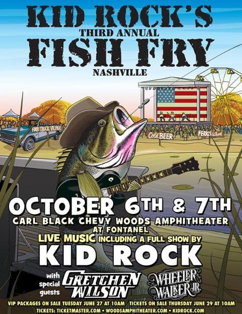 Kid Rock Fish Fry October