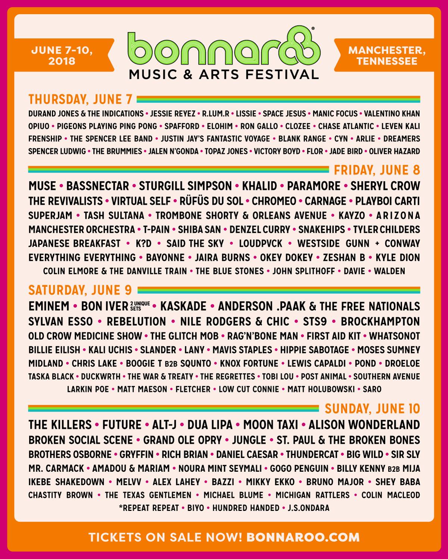 Bonnaroo Music & Arts Festival - Tickets!