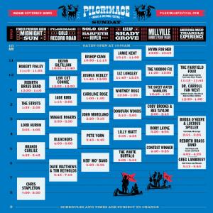 Pilgrimage Music & Cultural Festival Schedule