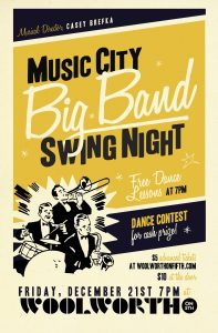 Big Band Swing Night at Woolworth in Nashville, TN