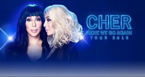 Cher at Bridgestone Arena in Nashville - Here We Go Again Touru 2019