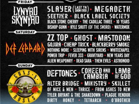 Exit 111 Festival Lineup, Great Stage Park, Manchester, Tennessee