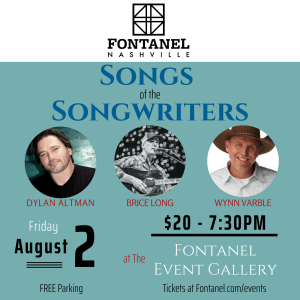 Songs of the Songwriters at Fontanel, Nashville, Tennessee