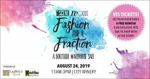Fashion for a Fraction at City Winery, Nashville, Tennessee on August 24, 2019