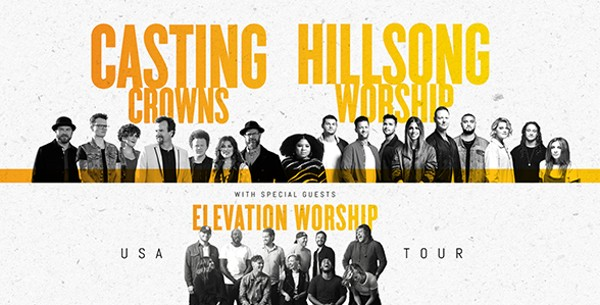 Casting Crowns, Hillsong Worship at Bridgestone Arena, Nashville, Tennessee, 11/17/19. Buy Tickets from Nashville.com