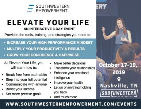 Elevate Your Life, Nashville, Tennessee Oct 17-19, 2019