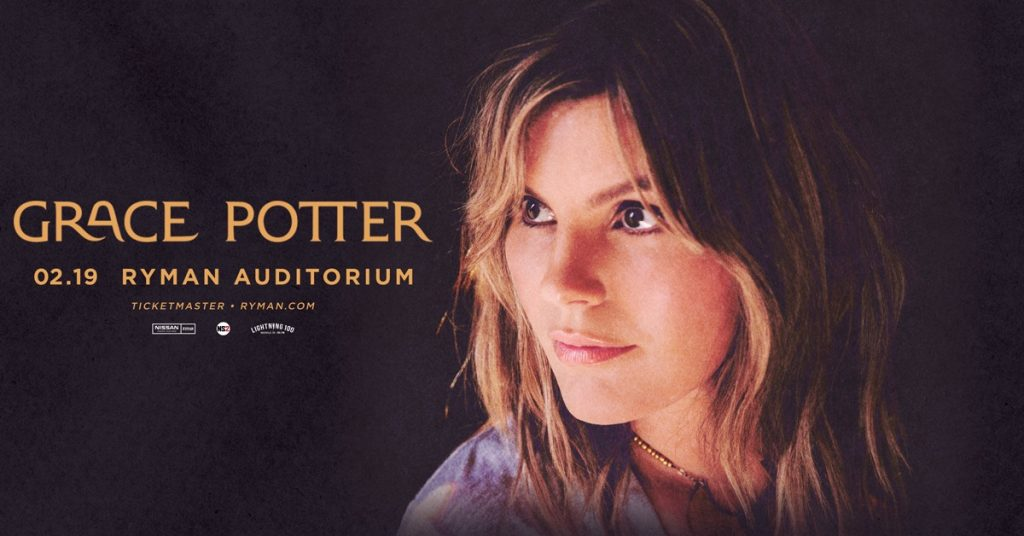 Grace Potter at Ryman Auditorium, Nashville, TN on 2/19/20. Buy Tickets From Nashville.com