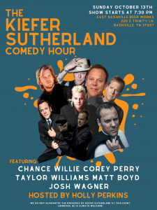 The Kiefer Sutherland Comedy Hour, Nashville, Tennessee