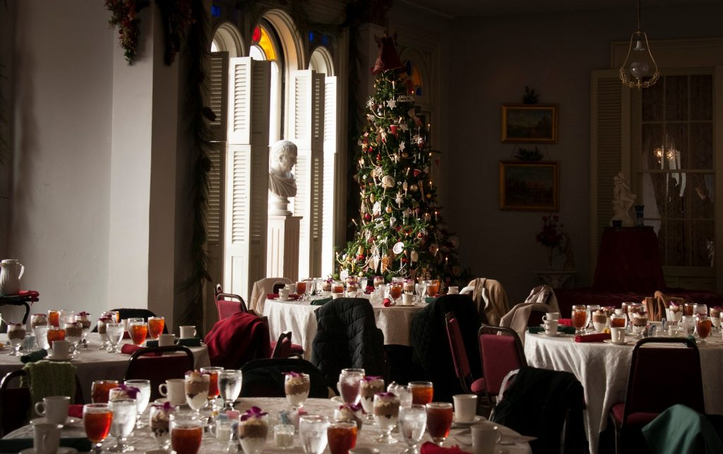 Breakfast with Santa at Belmont Mansion, Nashville, Tennessee