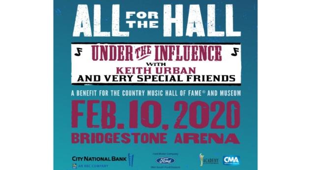 All for the Hall with Keith Urban, Bridgestone Arena, Nashville, TN 2/10/20. Buy Tickets from Nashville.com