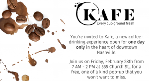New Coffee Concept Popping Up in Downtown Nashville