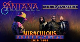 Santana and Earth, Wind & Fire at Bridgestone Arena, Nashville, Tennessee 8/25/20