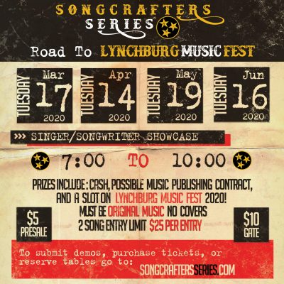 SongCrafter's Series at Exit/In, Nashville, Tennessee