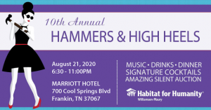 Hammers & High Heels Auction 2020, Franklin, Tennessee 8/21