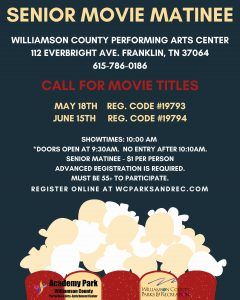 Senior Movie Matinee in Franklin, TN