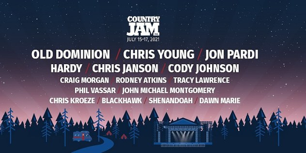 Country Jam USA Tickets! Eau Claire, Wisconsin July 15-17, 2021