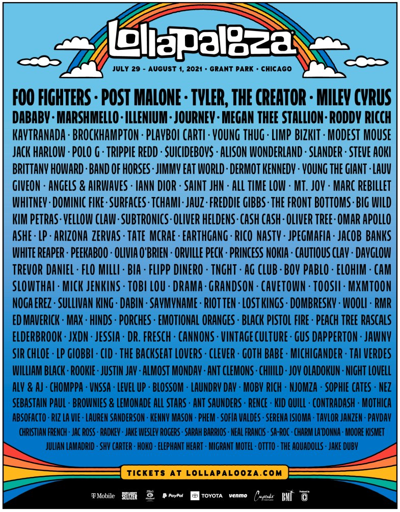 Lollapalooza Lineup 2021! Chicago Grant Park