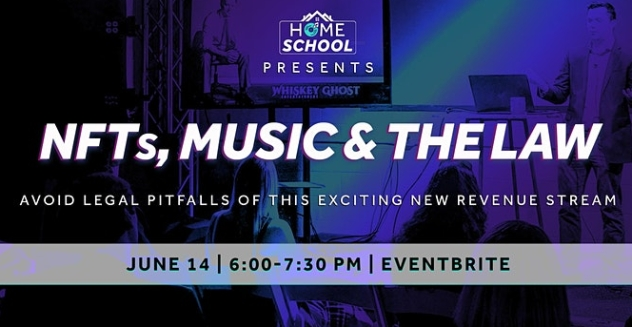 NFTs, Music & The Law virtual event hosted by attorney Colin Maher, 6/14/21
