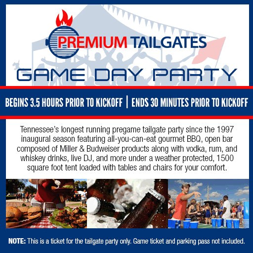 Premium Tailgates Game Day Party, Nashville (not tickets to the football game)