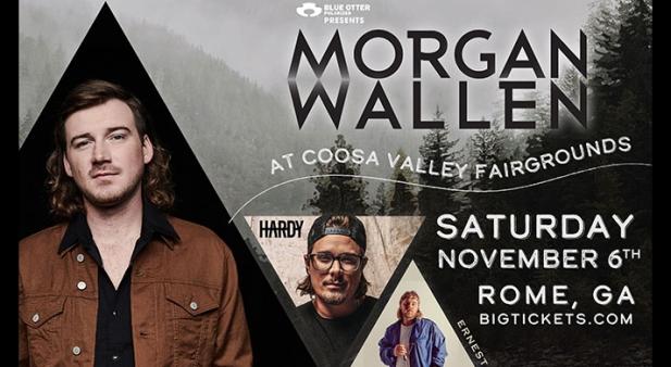 Morgan Wallen Concert Tickets! Rome, Georgia - Coosa Valley Fairgrounds, November 6-7, 2021.